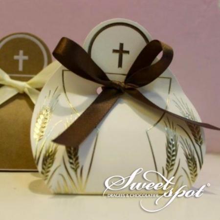 Boîte de dragées CALICE Blanc & Avana