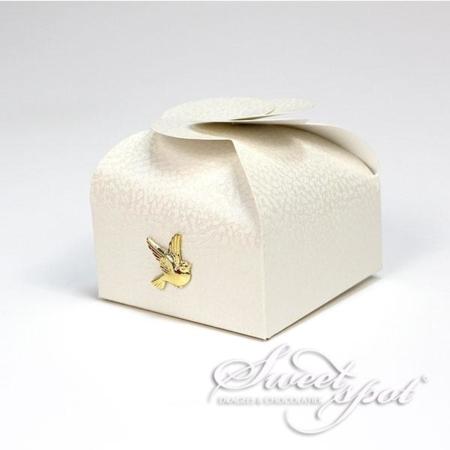 Boîte Mini Credo avec Colombe dorée