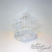 Cage Blanche en métal