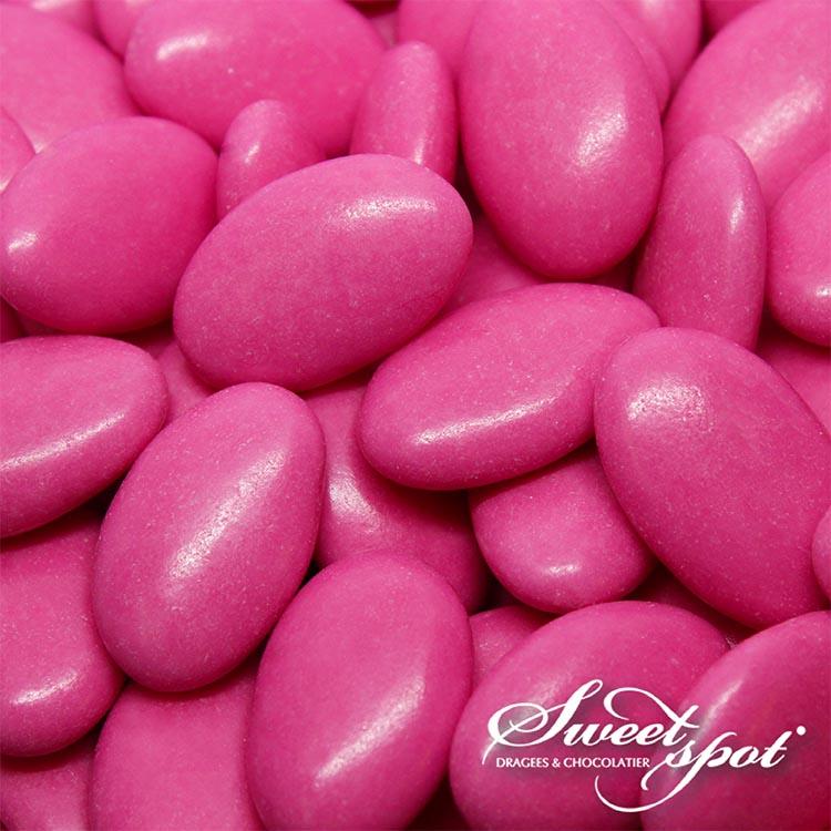 Dragées Chocolat Brillantes – Fuchsia