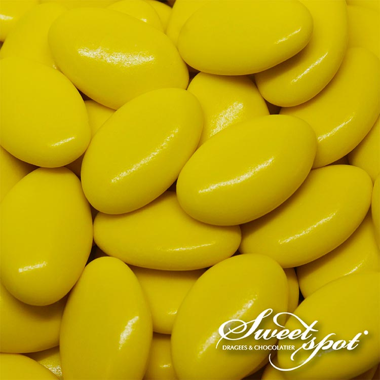 Glossy Chocolate Dragees - Yellow