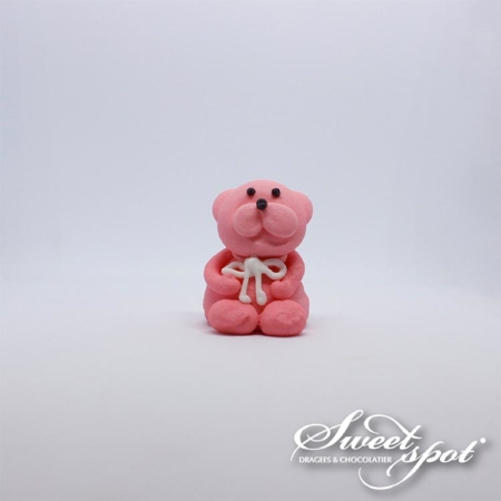 Ourson en sucre - Rose