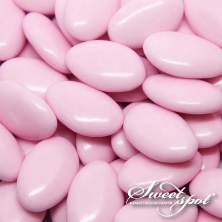 Glossy Chocolate Dragees- Pink