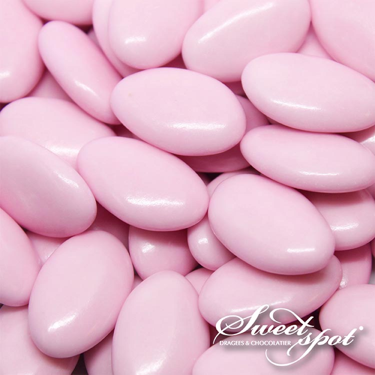 Dragées Chocolat Brillantes – Rose