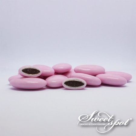 Dragées Chocolat Brillantes – Rose