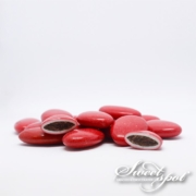 Glossy Chocolate Dragees - Red