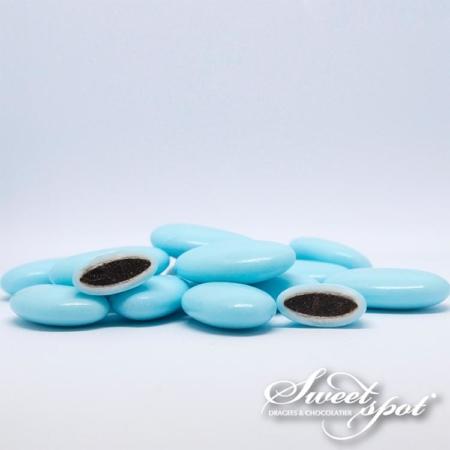 Dragées Chocolat Brillantes – Turquoise