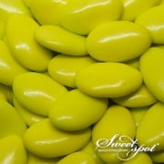 Glossy Chocolate Dragees - Green