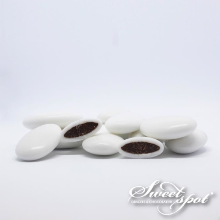 Dragées Chocolat Brillantes - Blanc