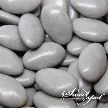 Glossy Chocolate Dragees - Grey (200g)