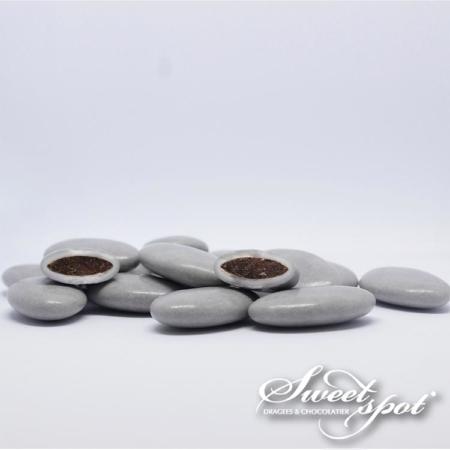 Dragées Chocolat Brillantes - Gris
