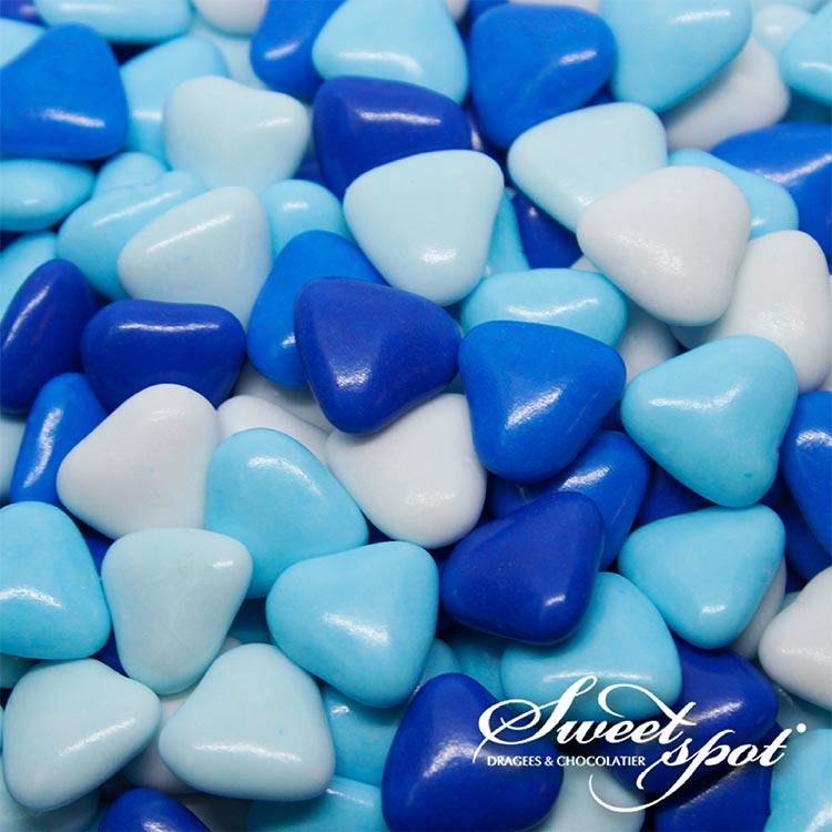 Mini Chocolate Hearts - Blue
