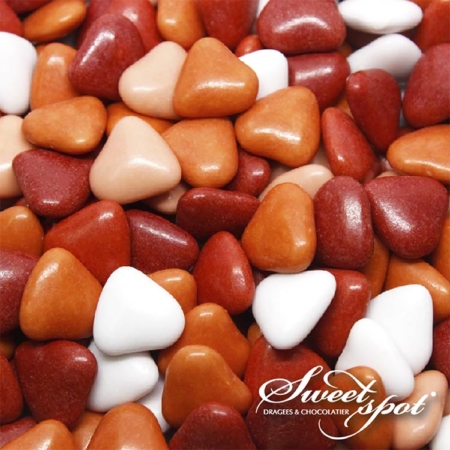 Mini Chocolate Hearts - Red