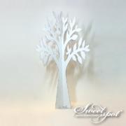 White cardboard tree - 90 cm