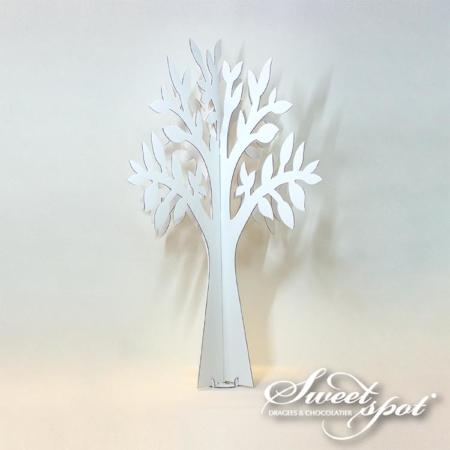 Arbre blanc en carton - 90 cm