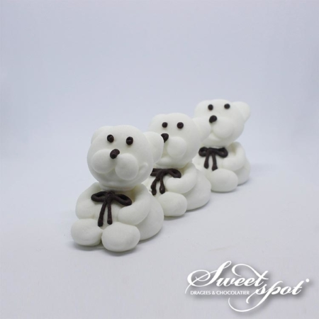 Sugar Teddy Bear - White