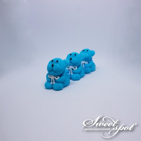 Sugar Teddy Bear - Blue