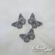 Metal Butterflies - Grey