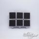 Silver Square Slate Clip (6 pieces)